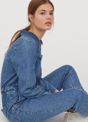 Модный джинсовый комбинезон s-m