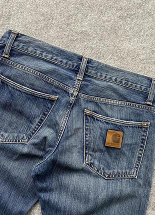 Класичні завужені світлі джинси carhartt racket pant