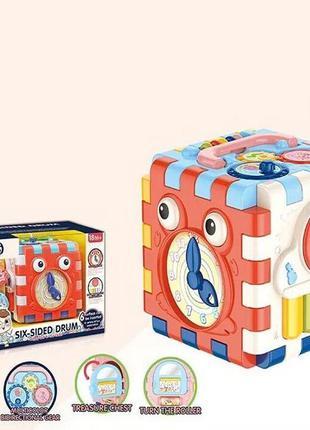 Музыкальный развивающий куб сортер 1001
