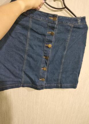 Юбка джинс размер 12 маломер