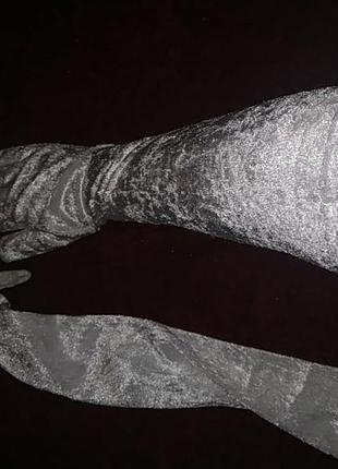 Длинные бархатные велюровые перчатки