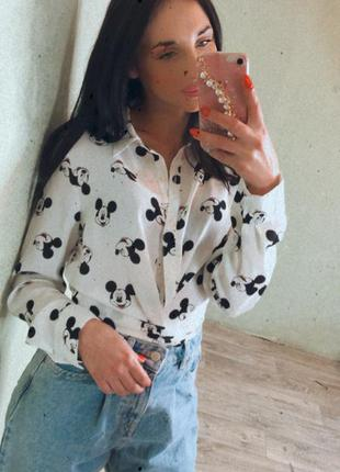 Рубашка в принт mickey mouse