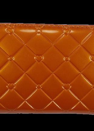 Кошелек на молнии лакированный nb 3-01 оранжевый