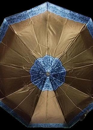 Зонт полуавтомат антиветер mario 808-5 коричневый