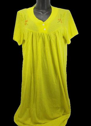 Хлопковая ночная рубашка nature cotton 051 56 желтая