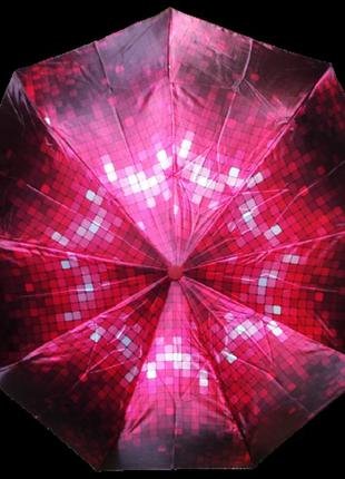 Зонт автомат антиветер lucky rain 719 красный