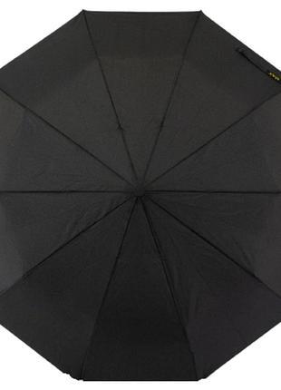 Мужской зонт полуавтомат антиветер на 10 спиц max 248 черный