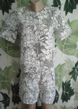River island костюм шорты шортиками  цветы цветочный  шикарный необычный