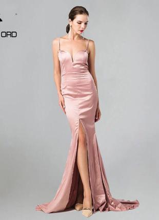 Шикарное нежное вечернее платье в пол