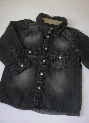 Рубашка, черная рубашка, джинсовая рубашка