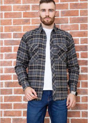 Фланелевая осень зима рубашка удлинённая клетка для стильных- xl xxl xxxl 4xl