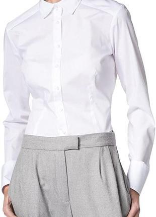 Офисная рубашка высокого качества eterna , хлопок и эластан