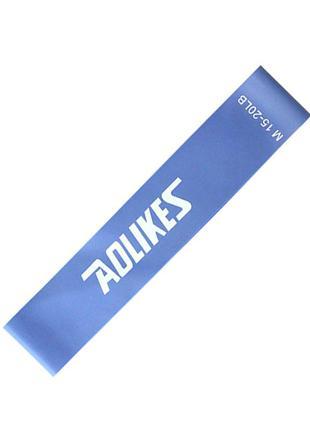 Фитнес резинка aolikes синий m