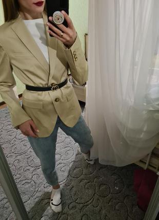 Шикарный удлинённый пиджак, жакет прямого кроя