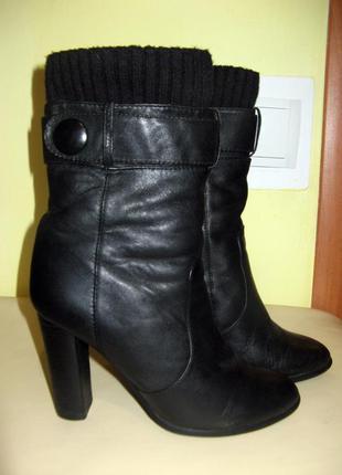 Сапоги - зима, кожаные, 37 размер.