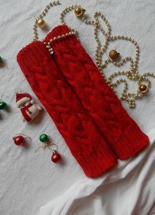 Теплые геты ярко красные новогодние, идеалные, суппер качество!!!