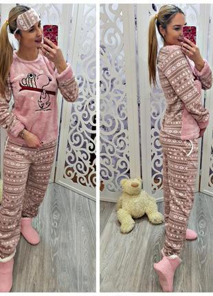 Теплая пижама, домашний костюм