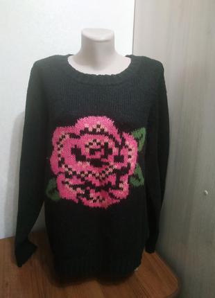 Жіноча кофта з квіткою f&f /женская кофта