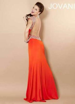 Вечернее платье от jovani в пол с открытой спиной 'оригинал'