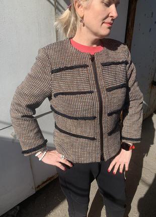 Пиджак твидовый короткий пиджак укороченый пиджак жакет женский