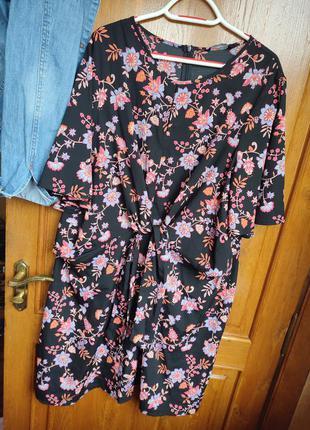 Красивое лёгкое платье большого размера, размер 20