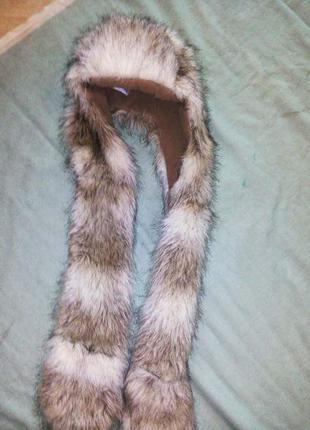 Шапка меховая с длинными ушами, new look1