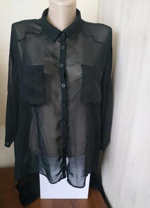 Легка накидка /сорочка /прозора накидка true object collection item/блуза