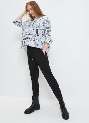 Стильная рубашка mohito c принтом xs-s