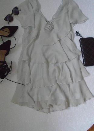 Серые платья с воланами 2019 - купить недорого вещи в интернет ... 36000afd7a552