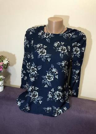 Цветочная блуза нарядна блузка xs/s