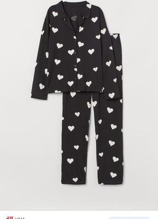 H&m пижама кофточка рубашка брюки штаны h&m