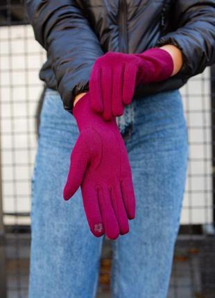 Перчатки without hand bordo