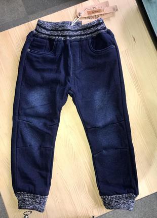 Утеплённые джоггеры / штаны под джинс / grace 98-128