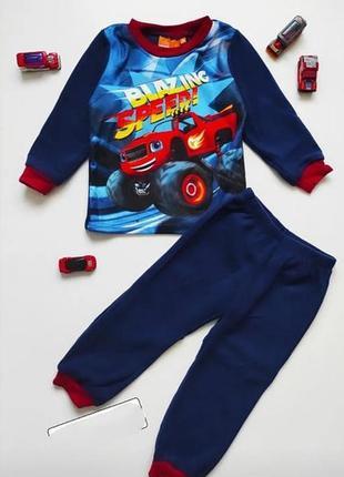 Пижама теплая для мальчика. флисовая пижама на мальчика.