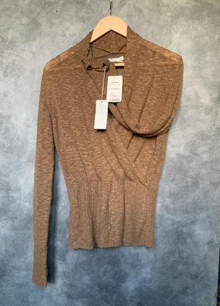 Пуловер tweeds с запахом на резинке