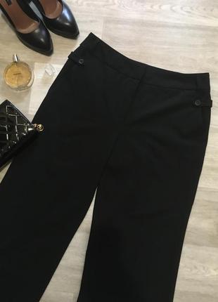 Стильные классические чёрные брюки со стрелками