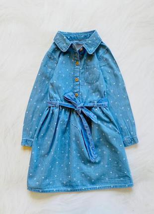 Primark стильное джинсовое  платье на девочку  18-24 мес