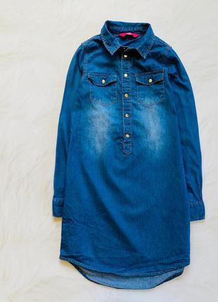 Young dimension  стильное  джинсовое платье на девочку  8-9 лет