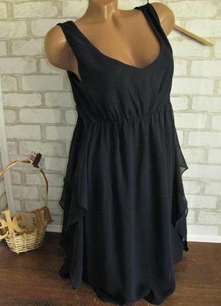 Легкое темно синие платье eur 36-38