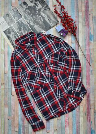 Крутая рубашка в клетку zara premium denim