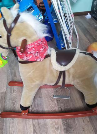 Конь лошадка качалка гойдалка кінь