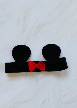Disney стильная повязка на девочку     6-12 мес