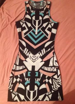 Женское платье короткое, летнее, плаття легке, коротке, платье в узори