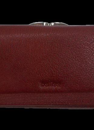 Женский кожаный кошелек balisa н146 бордовый
