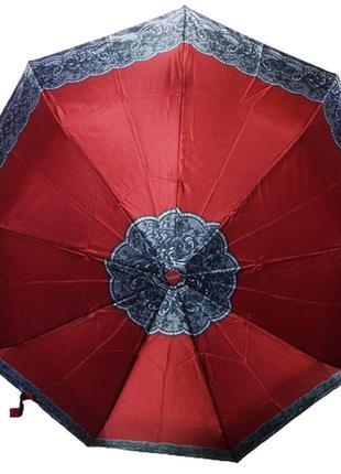 Зонт полуавтомат антиветер mario 808-3 красный