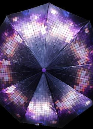 Зонт автомат антиветер lucky rain 719 фиолетовый с розовым
