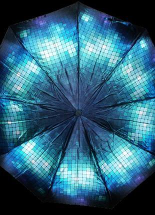 Зонт автомат антиветер lucky rain 719 синий с голубым