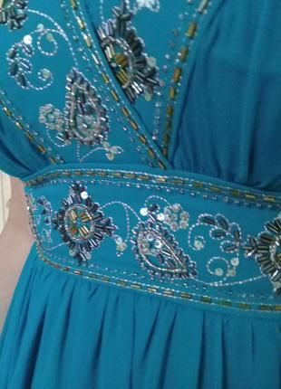 Выпускное вечернее шёлковое платье monsoon