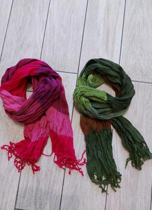 Стильные модные шарфики!! осень-весна.. малина+изумруд))