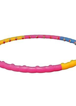 Массажный разборный обруч хула-хуп с мягкими массажными шариками